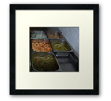 Mexican Food Buffet Framed Print