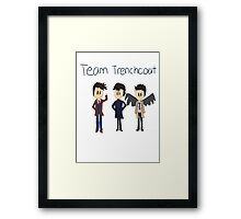 Team Trenchcoat (superwholock) Framed Print