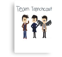 Team Trenchcoat (superwholock) Canvas Print