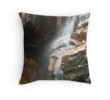 southern rock pool water fall ghost Throw Pillow