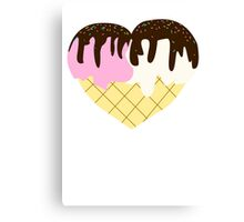 I Heart Ice Cream Canvas Print