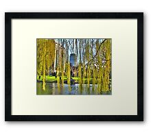 Curtains of Boston Framed Print