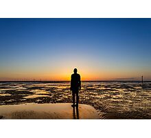 Sunset from the beach Photographic Print
