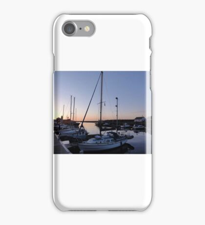 Dusk in the harbour iPhone Case/Skin