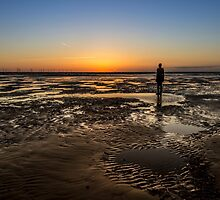 Crosby Beach Sunset by Paul Madden