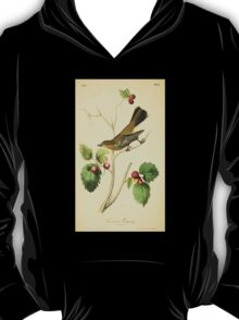 James Audubon Vector Rebuild - The Birds of America - From Drawings Made in the United States and Their Territories V 1-7 1840 - Townsend's Ptiliogony T-Shirt