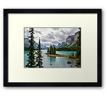 Maligne Lake from Spirit Island Framed Print