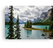 Maligne Lake from Spirit Island Canvas Print