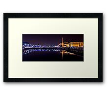 Canning Dock panorama Framed Print