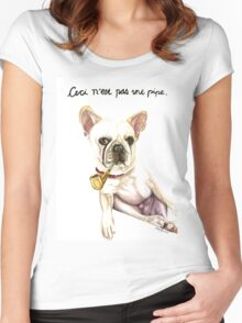 Ceci n'est pas une pipe.  Women's Fitted Scoop T-Shirt