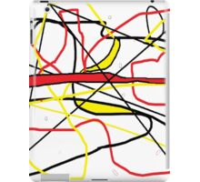 Abstract in Red, Yellow, & Black... on White iPad Case/Skin