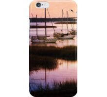 Boats at Anchor ~ Evening Tranquility iPhone Case/Skin