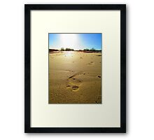 First Step Towards New Adventures Framed Print