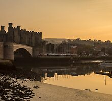 Conwy Castle and harbour by Paul Madden