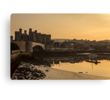 Conwy Castle and harbour Canvas Print