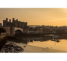 Conwy Castle and harbour Photographic Print