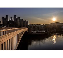 Conwy at sunset Photographic Print
