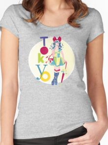 Fashion Tokyo City Woman  Women's Fitted Scoop T-Shirt