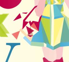 Fashion Tokyo City Woman  Sticker