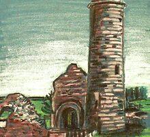 Irish Round Tower by Alan Hogan