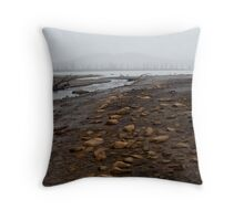 Misty river bed @ King William Throw Pillow
