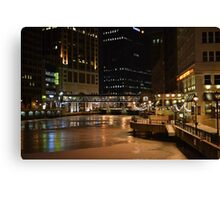 Milwaukee in the Winter Canvas Print