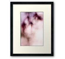 In lucid dreams, sometimes we bleed... Framed Print