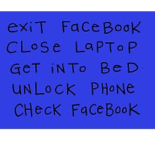 exit facebook Photographic Print