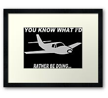 Airplane Graphic Funny Geek Nerd Framed Print