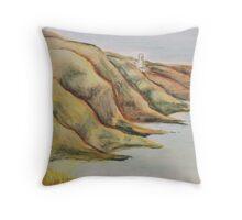 Clutching cliffs Throw Pillow