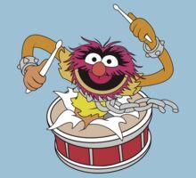 Animal crashing through drums Funny Geek Nerd by superfeb