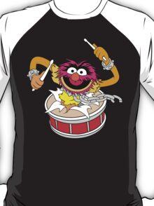 Animal crashing through drums Funny Geek Nerd T-Shirt