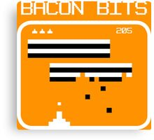 Bacon bits retro video game Funny Geek Nerd Canvas Print