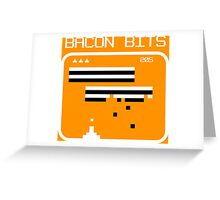 Bacon bits retro video game Funny Geek Nerd Greeting Card