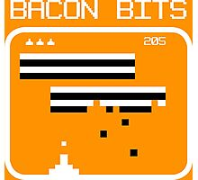 Bacon bits retro video game Funny Geek Nerd Photographic Print