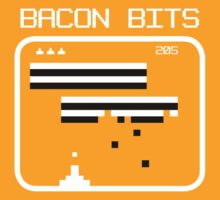 Bacon bits retro video game Funny Geek Nerd by superfeb