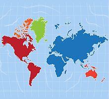 world map by cyberftomz