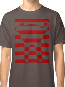 red striped cat 3 Classic T-Shirt