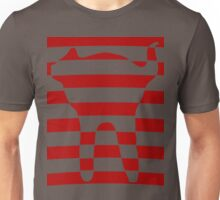 red striped cat 3 Unisex T-Shirt