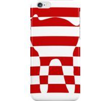 red striped cat 2 iPhone Case/Skin