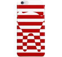 red striped cat iPhone Case/Skin