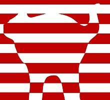 red striped cat by cyberftomz