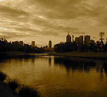 melbourne skyline from the yarra by jonnywalker