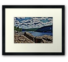 Devils Lake Wisconsin Framed Print