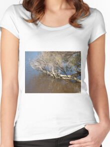 The Murray River in Mandurah Women's Fitted Scoop T-Shirt