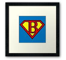 Super B Framed Print