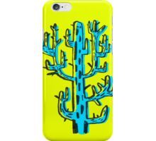 Cactus azul iPhone Case/Skin