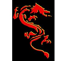 Double Dragon Red andYellow Photographic Print