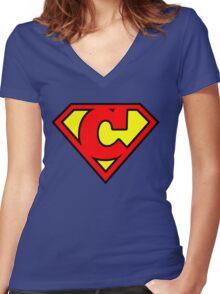 Super C Women's Fitted V-Neck T-Shirt