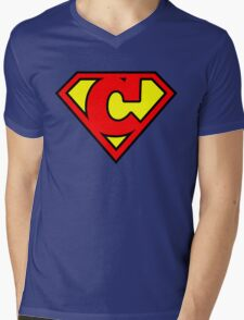 Super C Mens V-Neck T-Shirt